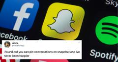 how to pin people on snapchat