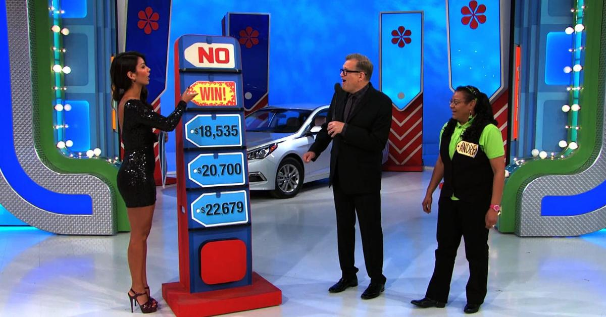 A 'Price is Right' contestant getting a lucky break.