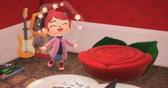 animal crossing decorate with flowers