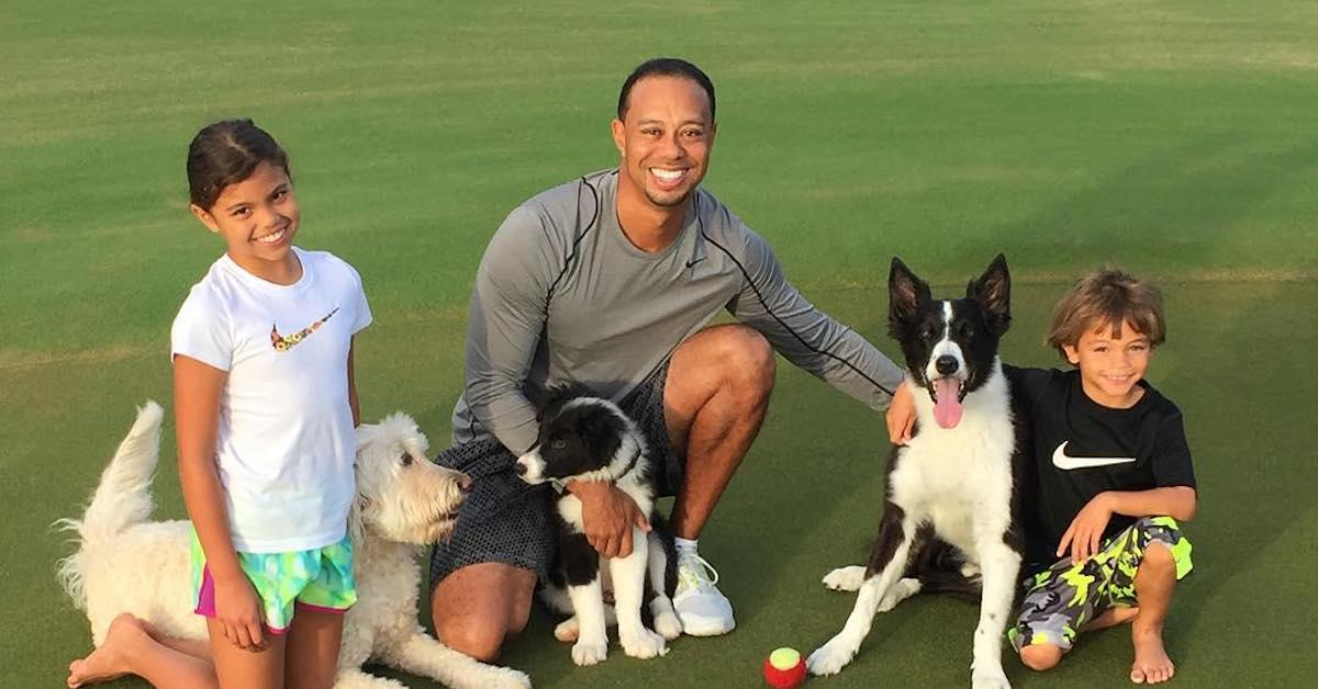Tiger Woods Shared a Rare Photo of His Kids, and They're All Grown Up