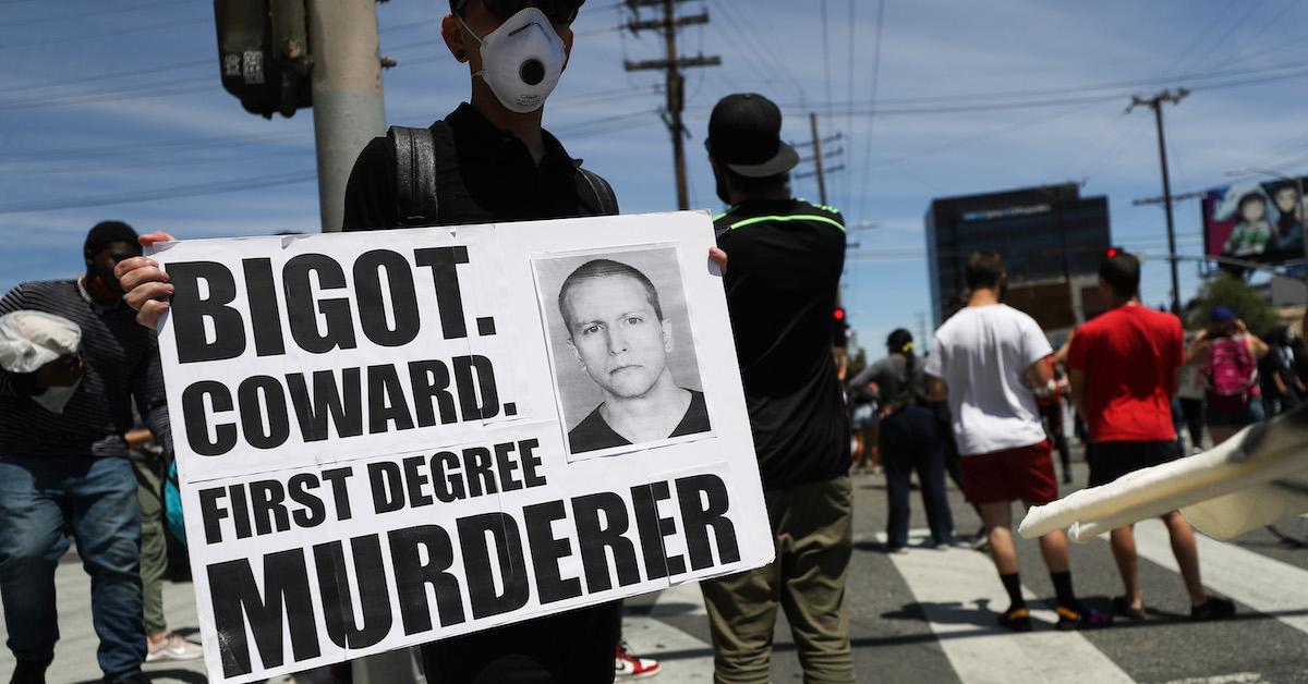 Derek Chauvin Protestor