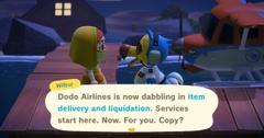 dodo delivery animal crossing