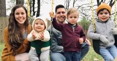 The Duggar family pose for photos