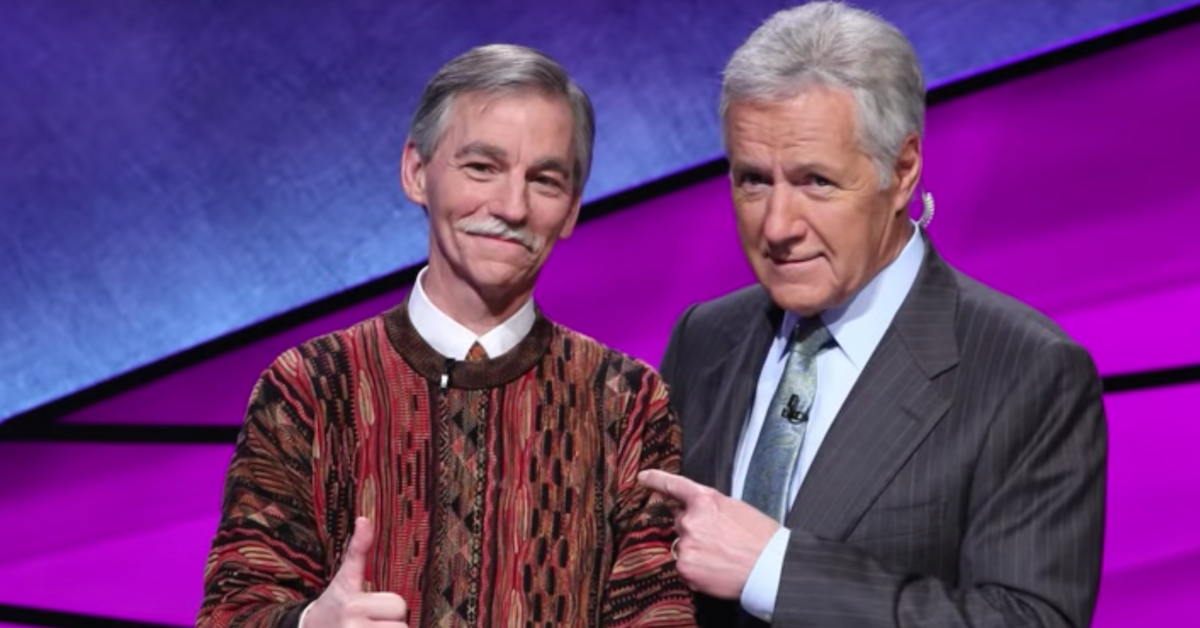 Larry Martin and Alex Trebek