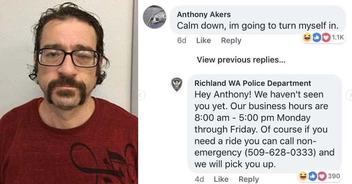 Cops Post Wanted Ad on Facebook, Suspect Responds in Comments Section