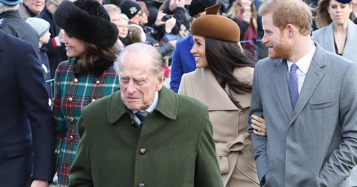 Prince Philip, Prince Harry and Meghan Markle