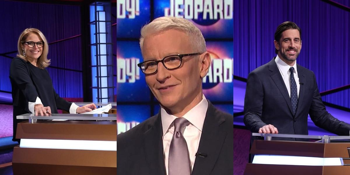 Katie Couric, Anderson Cooper, Aaron Rodgers