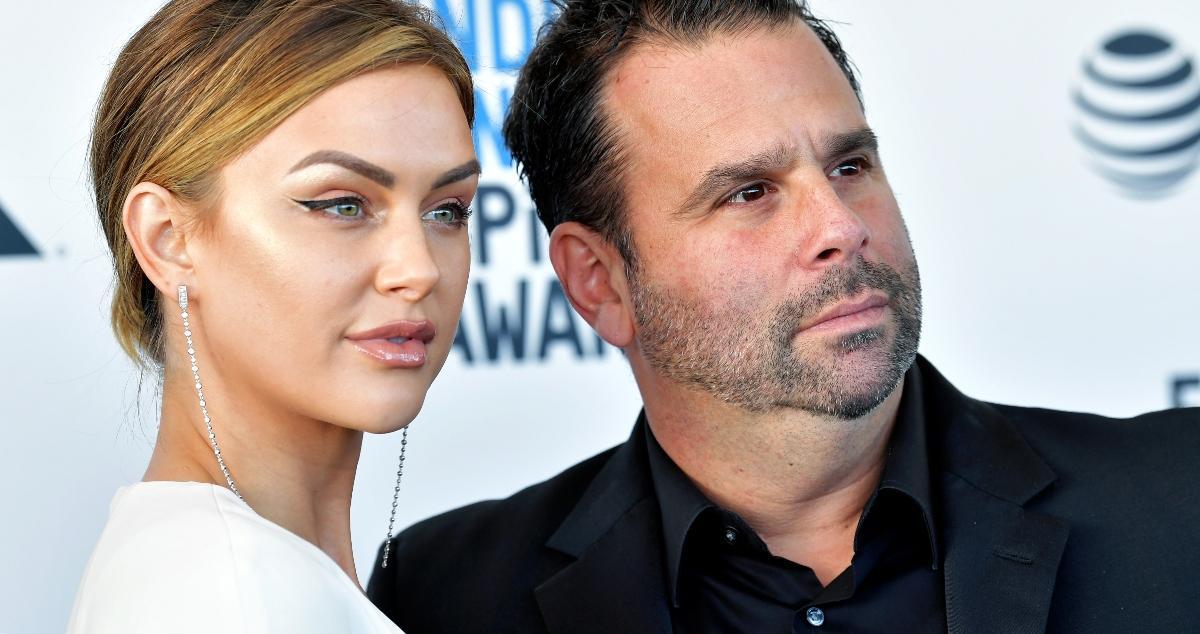 Lala Kent and Randall Emmett attend the 2019 Film Independent Spirit Awards in Santa Monica.