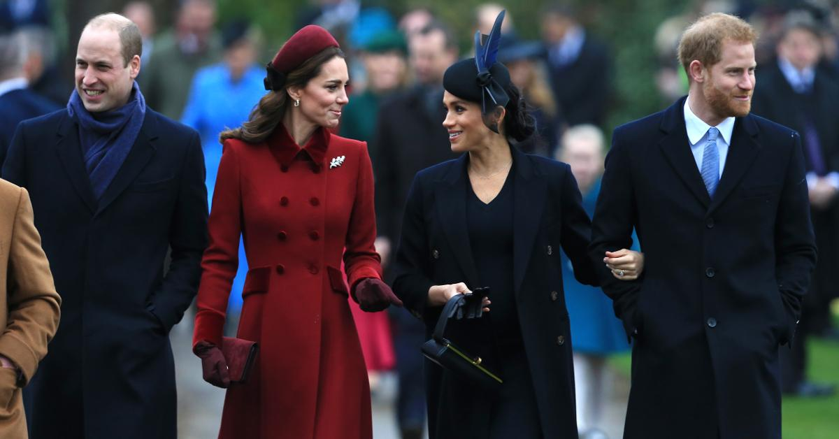 Prince William, Princess Kate, Meghan Markle, and Prince Harry