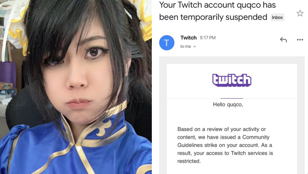 Twitch Suspended Streamer Quqco For Her