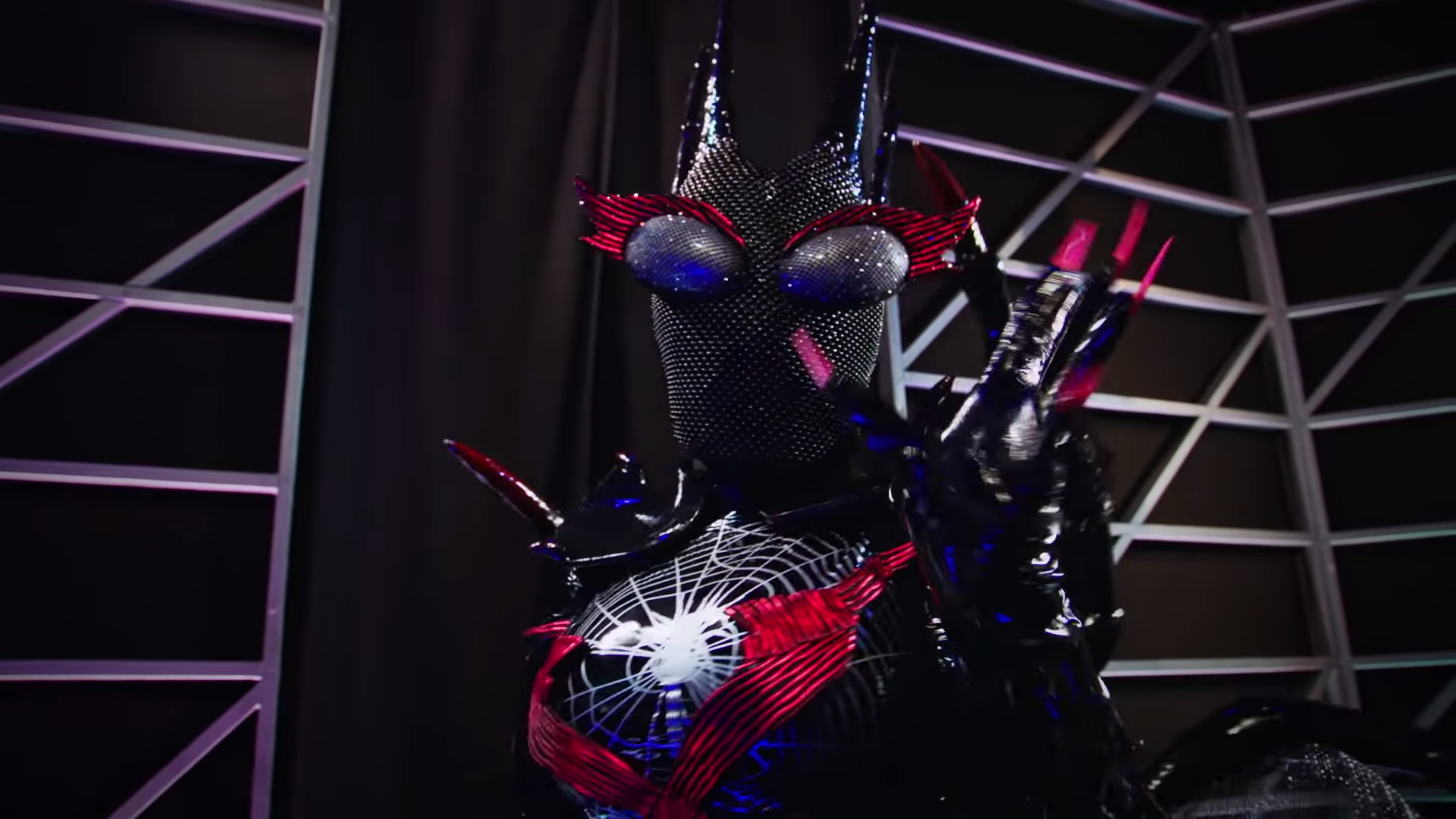 who is black widow_ _ season  _ the masked singer   screenshot