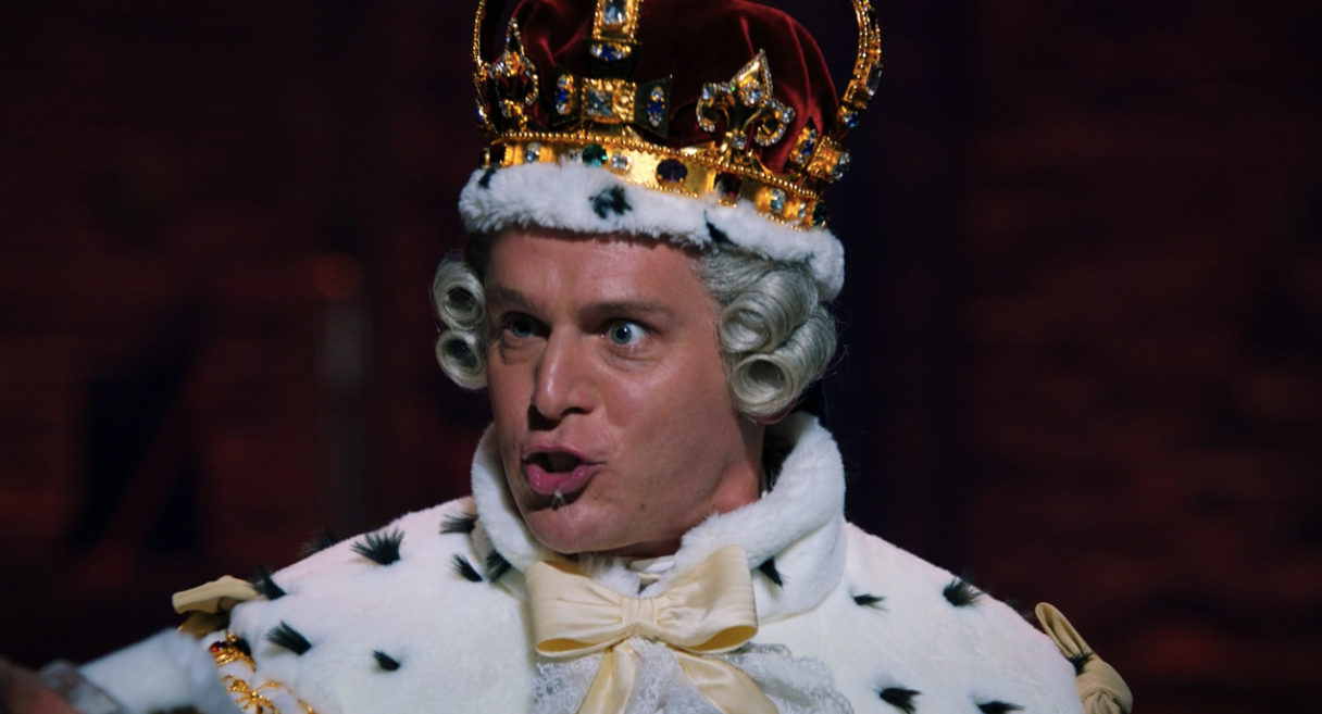 why does the king spit in hamilton