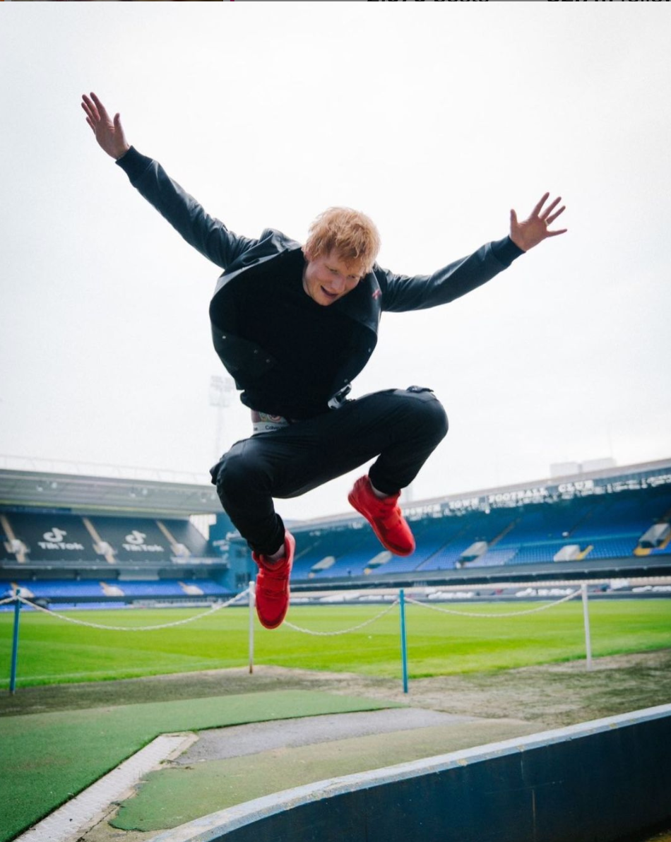 ed sheeran jumping
