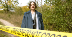 Clarice checking out a crime scene