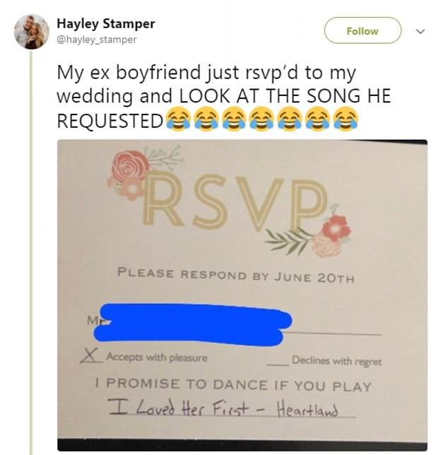 Woman Invites Her Ex to Her Wedding and His Song Request Is