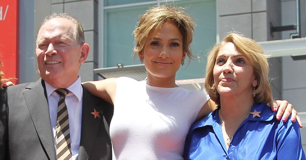 Jennifer Lopez with her parents