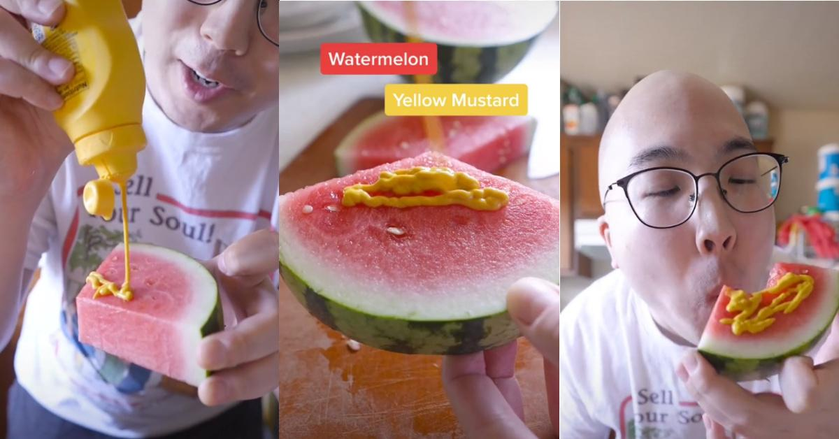 This TikTok influencer started the mustard on watermelon food trend.