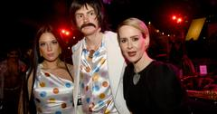 Halsey, Evan Peters, and Sarah Paulson at American Horror 100th Episode Celebration