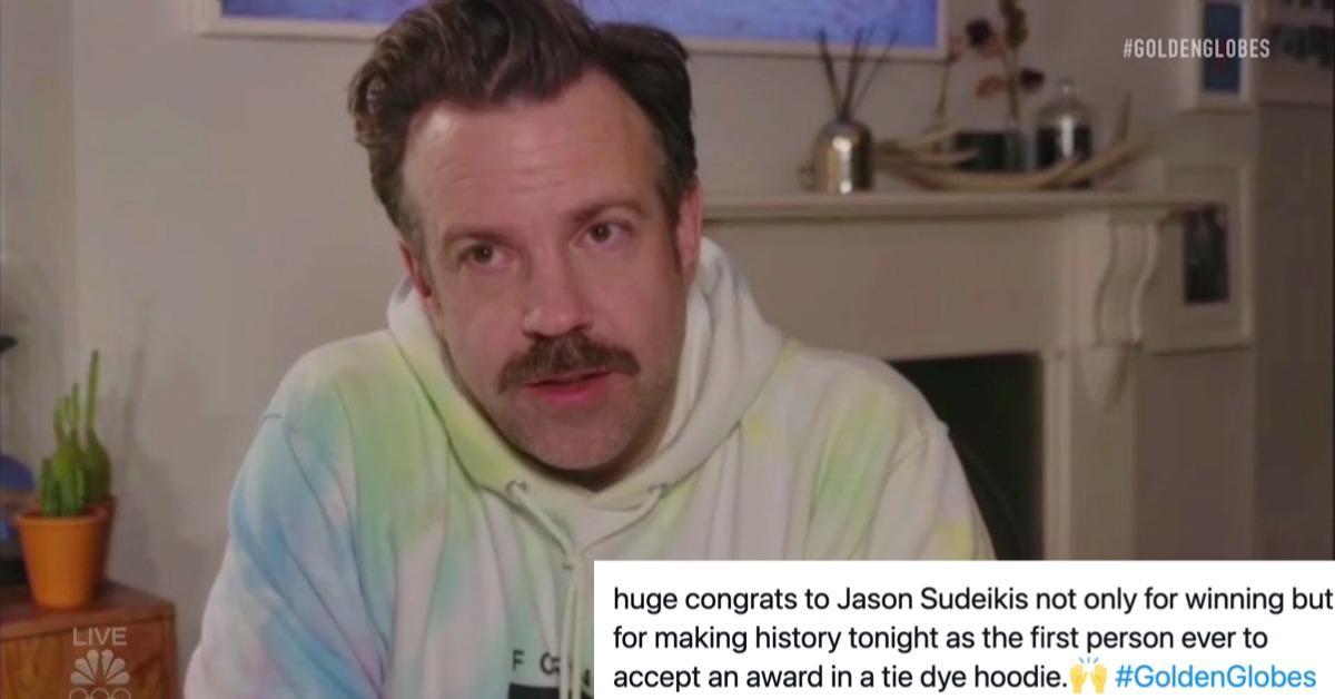 Jason Sudeikis at the Golden Globes