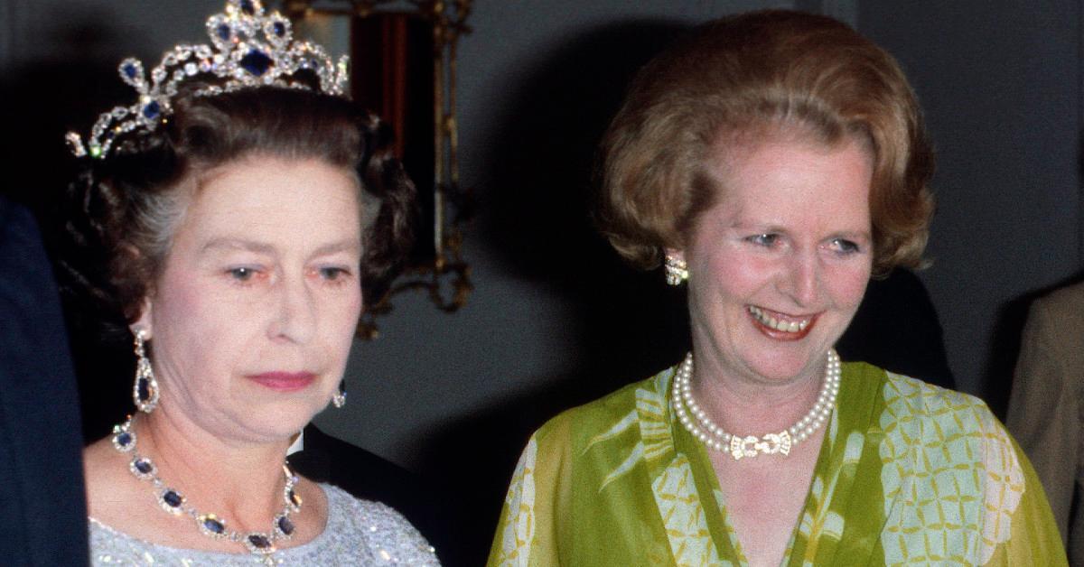 Queen Elizabeth and Margaret Thatcher