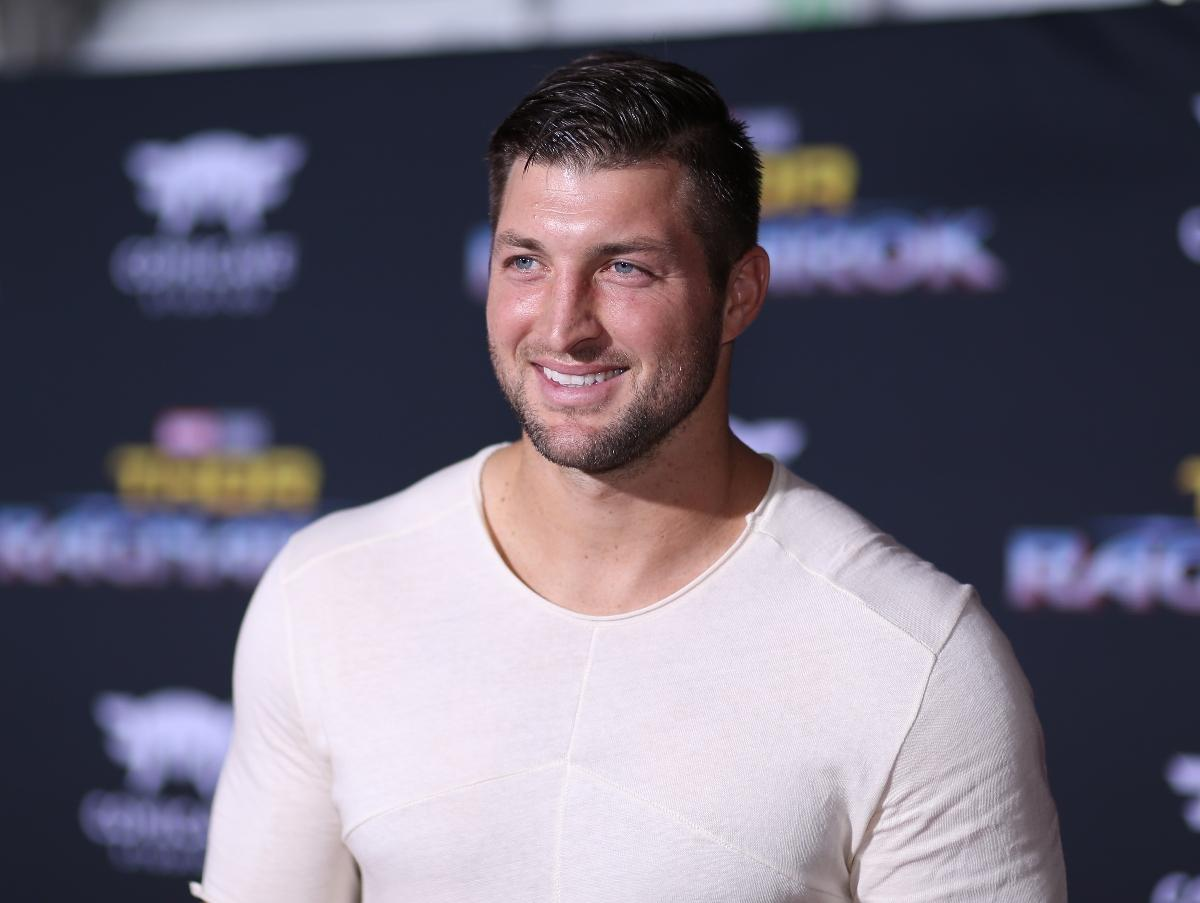 Tim Tebow at The World Premiere of Marvel Studios' 'Thor: Ragnarok' in Hollywood.