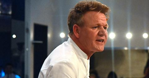 Gordon Ramsay on the set of 'Hell's Kitchen'