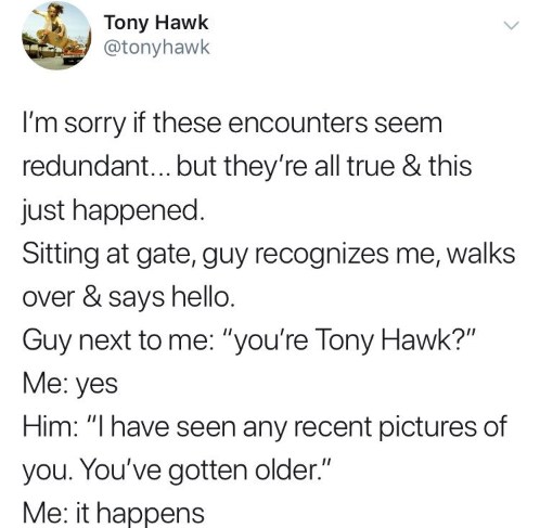 Tony Hawk Turns to Twitter to Share All the Times People Don