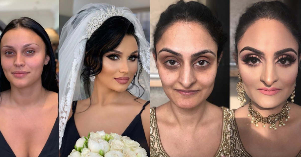 Bridal Makeup Before And After Photos