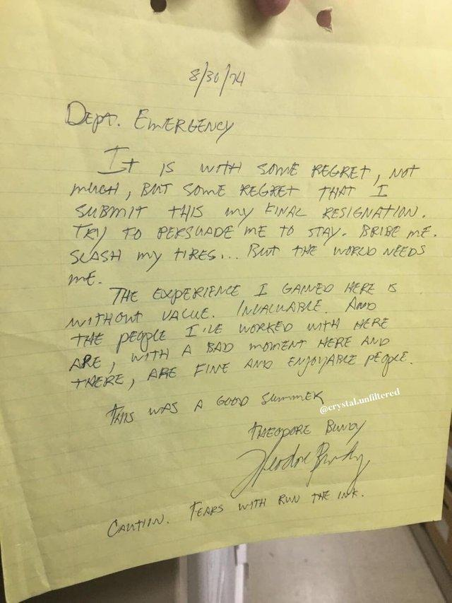 Funny Resignation Letters From People Who Had It With Their Job
