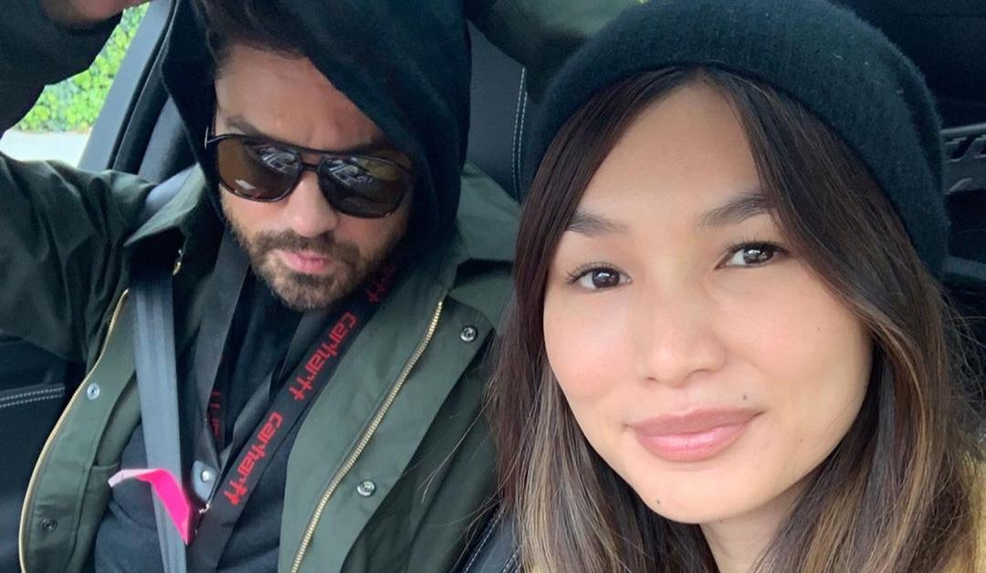 Gemma Chan and Dominic Cooper donate food to local hospital workers.