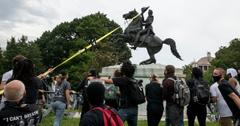 why tear down andrew jackson statue