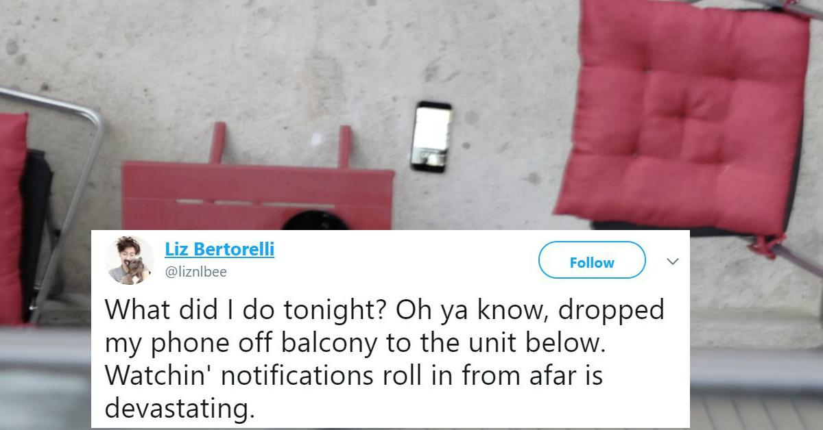 Woman Drops Phone On Neighbor's Balcony And Hatches Epic