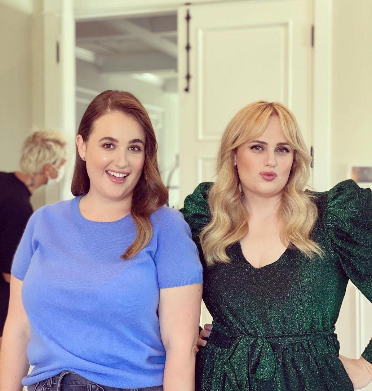 Rebel Wilson and one of her siblings, sister Annachi