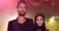 Scott Disick and Kourtney Kardashian photographed together.